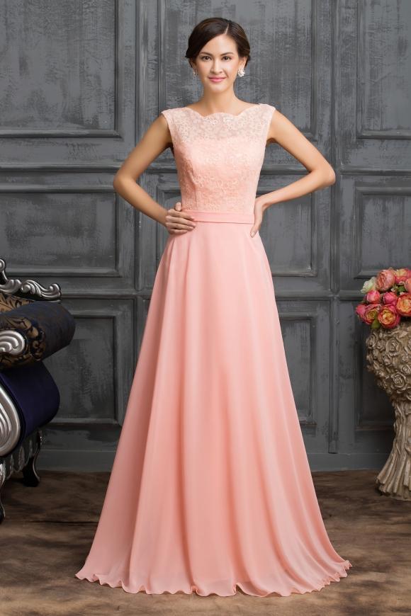 Szyfonowa długa suknia