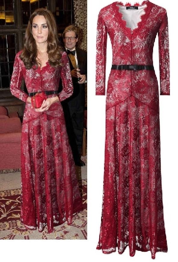 Koronkowa sukienka w stylu KateMiddleton,  wersja 3/4