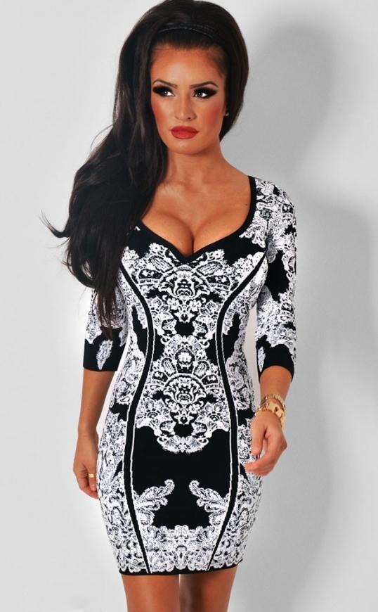 Sukienk z wzorami