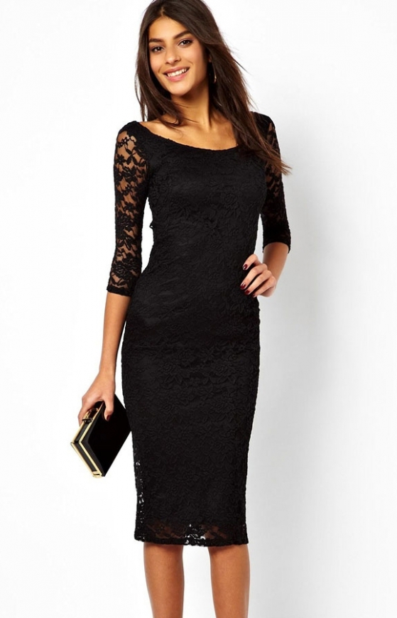 Klasyczna korkowa sukienka, czarna , śliwka