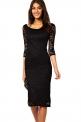 Klasyczna korkowa czarna sukienka