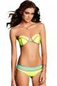 Bikini damskie, neonowa zieleń + turkus