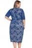 Koronkowa chabrow sukienka w dużych rozmiarach. Koronkowe sukienki Plus size. Lace big size dresses