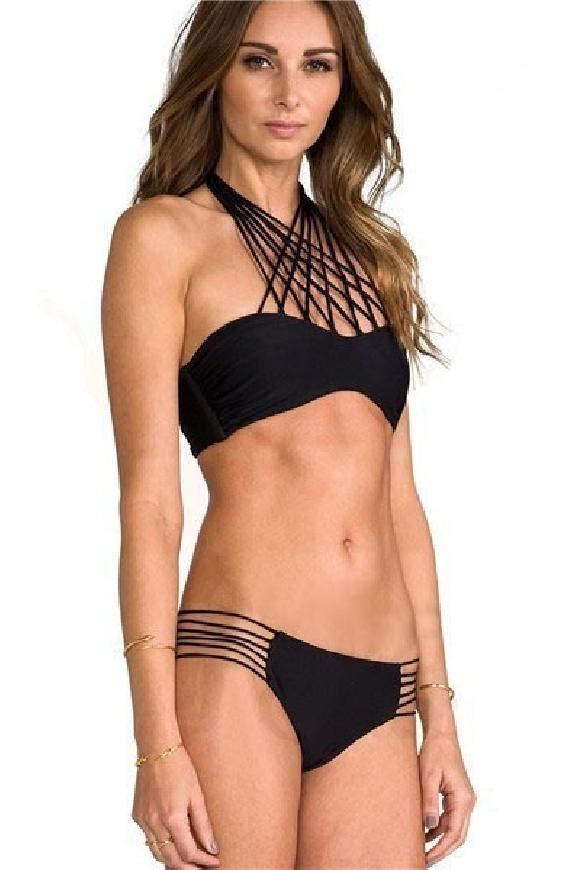 Bikini damskie ze sznurkami