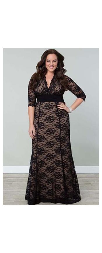 Długa koronowa sukienka /długie czarne suknie / suknia na sylwestra