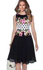 Sukienka z basnką | elegancka sukienka z kwiatami