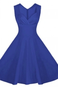 Rozkszowana sukienka Plus size. Chabrowa sukienka w stylu retro