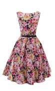 Kwiatowa bawełniana sukienka w klasycznym stylu