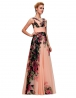 Długa suknia w kwiaty na wesele | kwiatowe suknie wieczorowe