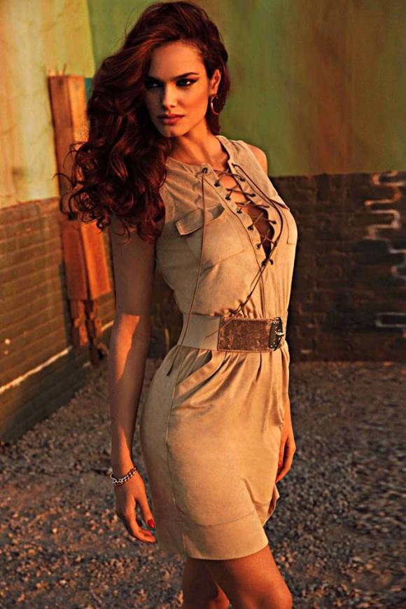 Sukienka zamszowa , karmelowy beż