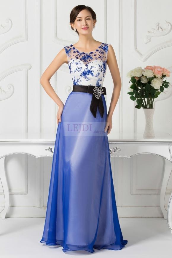 Długa wieczorowa suknia na wesele | sukienka dla mamy panny młodej/pana młodego
