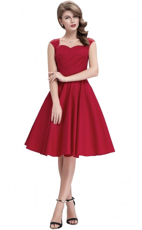 Sukienka pin-up, retro sukienka typu swingdress , czerwona,czarna