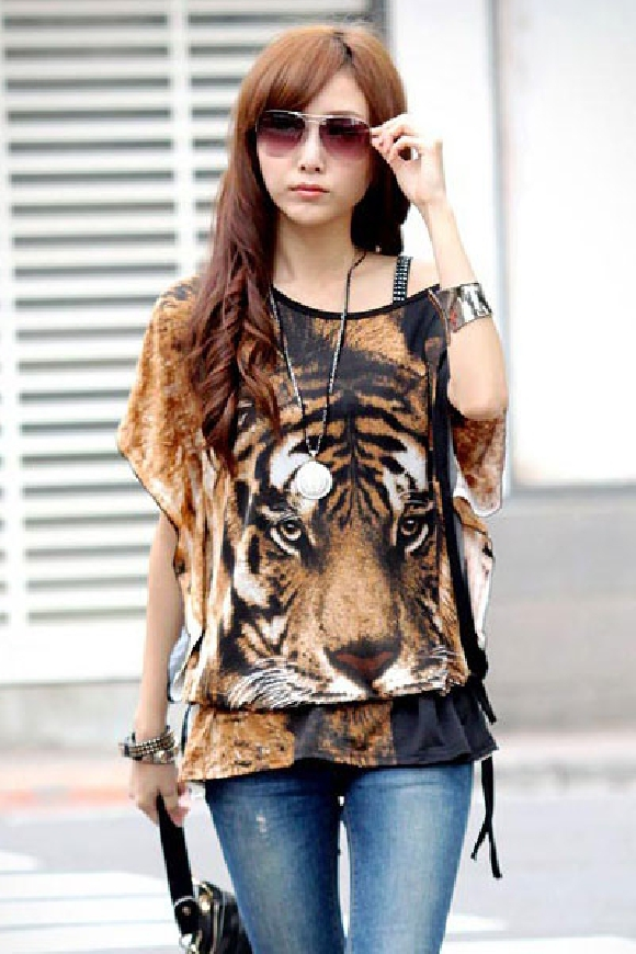 Bluzka z tygrysem   tunika tygrys
