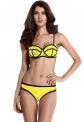 Żółte bikini   żółty strój kąpielowy