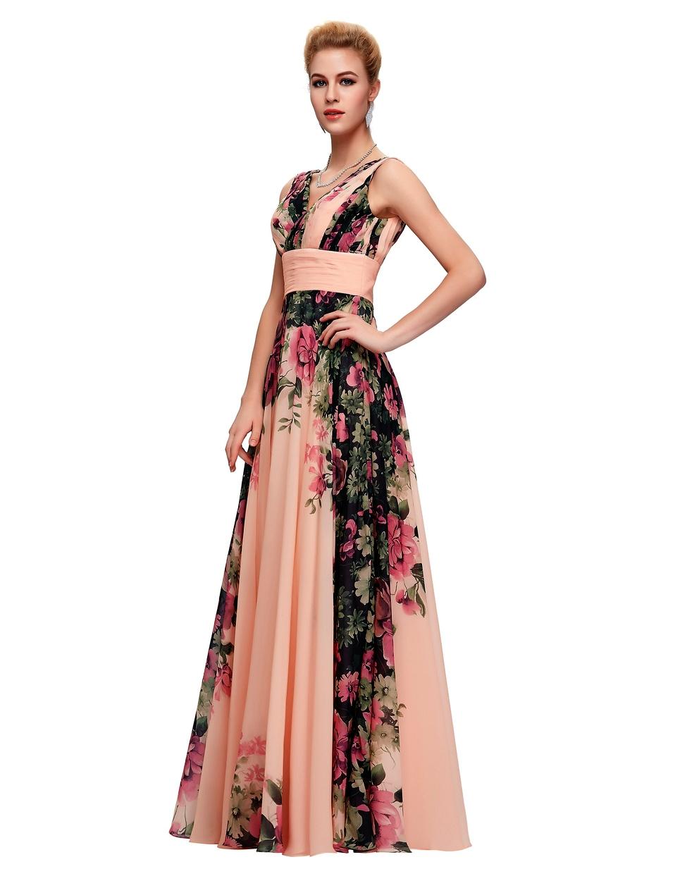 Długa Suknia W Kwiaty Na Wesele Kwiatowe Suknie Wieczorowe Sklep
