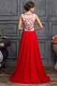 Czerwona suknia wieczorowa w stylu sukni Sherri Hill