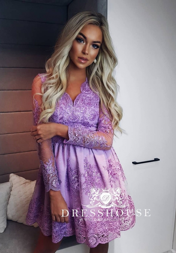 Sukienka na studniówkę lub wesele Amelia, lawenda