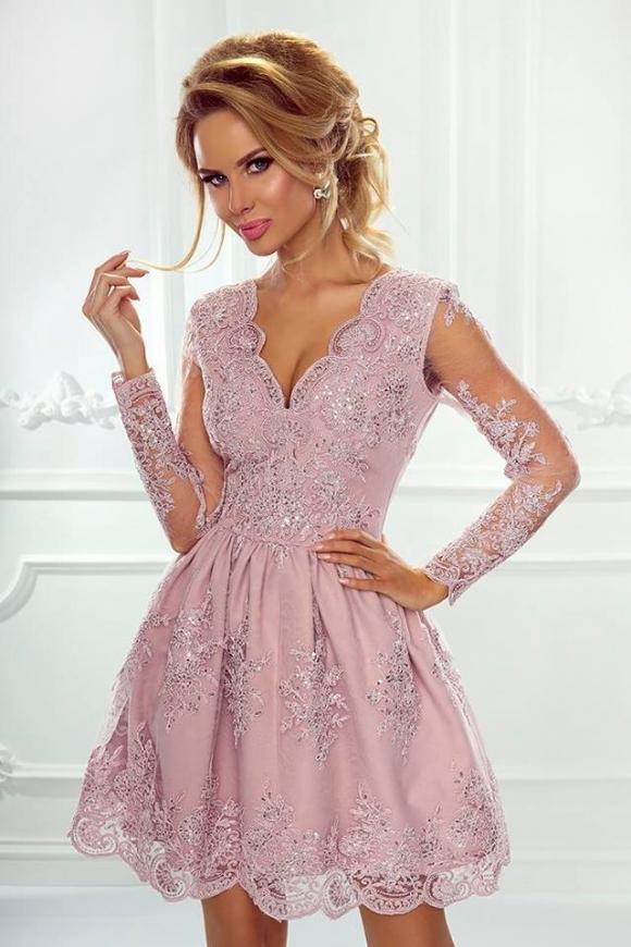 Koronkowa sukienka wieczorowa Amelia w kolorze lila