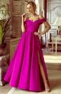 Wieczorowa sukienka z odkrytymi ramionami - Elizabeth fusksja