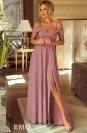 Suknia wieczorowa z odkrytymi ramionami - pustynny róż- Elizabeth
