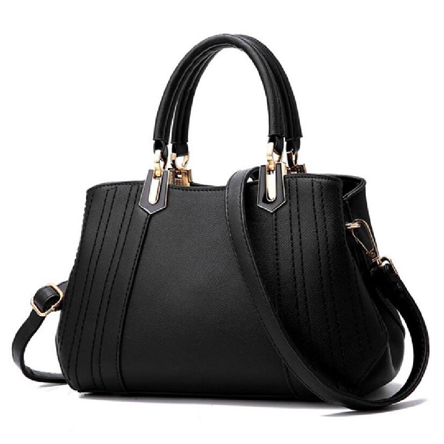 Czarna elegancka torebka z ekoskórki