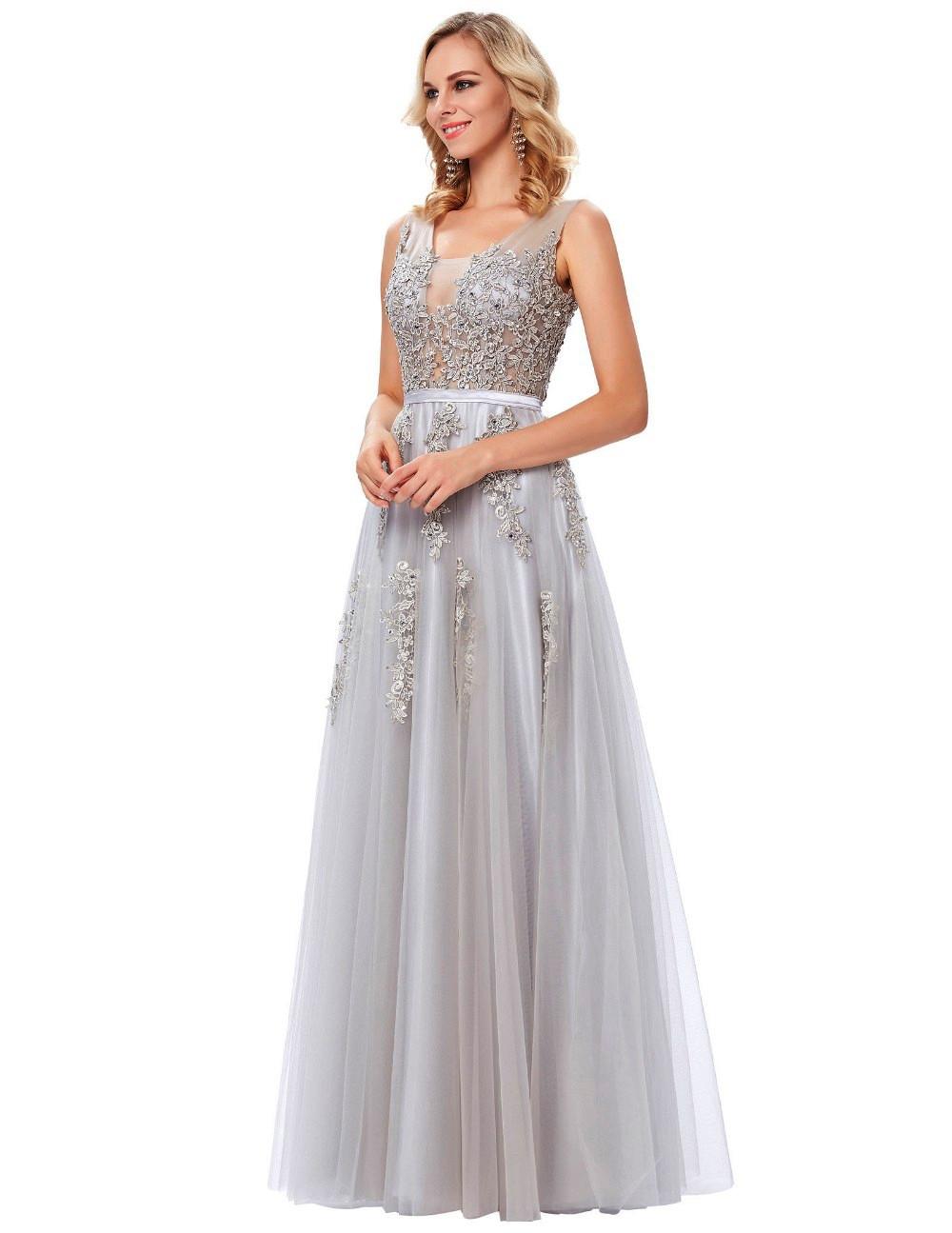b0292a7acb Szara tiulowa suknia dla druhny