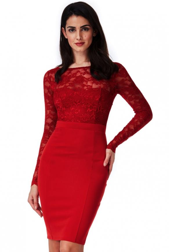 Krótka sukienka wieczorowa z odkrytymi plecami i kokardą z tyłu - Goddiva ciemne wino - 987A
