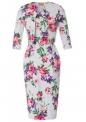 Sukienka z żakietem w kwiaty | elegancki komplet ołówkowa sukienka i żakiecik