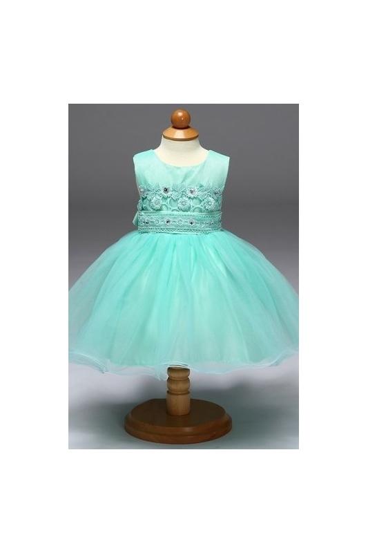 fb7eaee8f11e02 Tiulowa turkusowa sukienka dla dziewczynki |sukienka dziecięca na wesele,  urodziny, święta