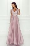 Pudrowo różowa sukienka wieczorowa - Luna