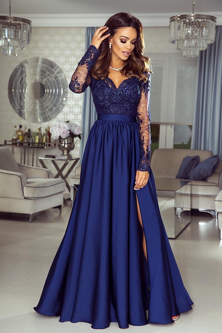 0a4a8de971 Suknia Emo Luna granatowa na wesele