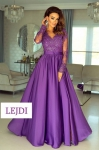 Sukienka Emo Luna fioletowa na studniówkę, wesele, sylwestra.