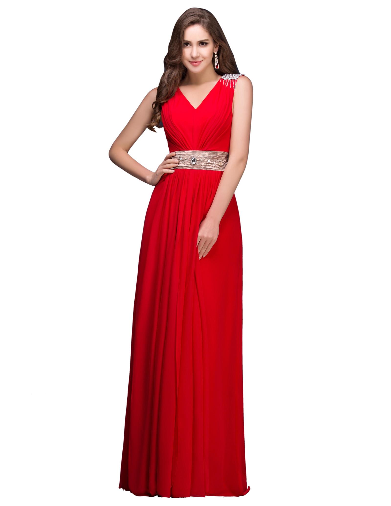 86371e1ad8 Czerwona długa suknia w stylu greckim - Sklep internetowy StyliJa