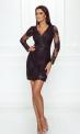 Elegancka koronkowa sukienka wieczorowa w czarnym kolorze - Diana
