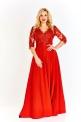 Czerwona wieczorowa suknia plus size, Crystal