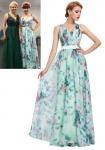Kwiatowa turkusowa sukienka Disney koncert Kasia Łaska
