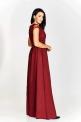 Długa bordowa suknia wieczorowa w rozmiarze plus size Chantell