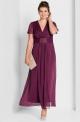 Burgundowa sukienka dla mamy Panny Młodej, Pana Młodego