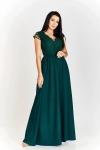 Butelkowo zielona sukienka wieczorowa w rozmiarze plus size Chantell