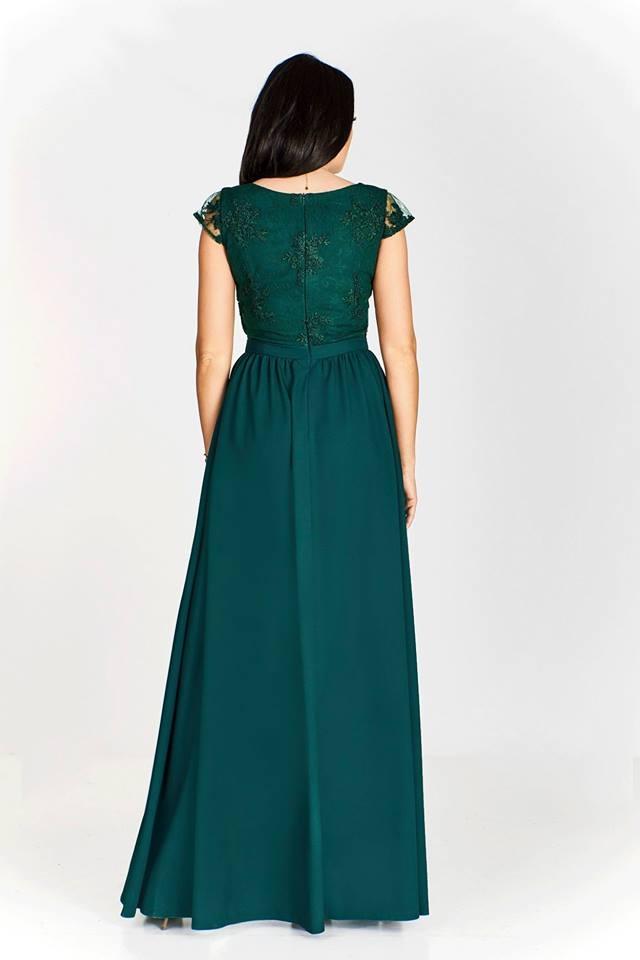 544ece1caf Butelkowo zielona sukienka wieczorowa w rozmiarze plus size Chantell ...
