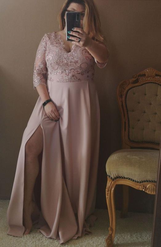 Długa sukienka dla druhny w kolorze pustynnego różu Crystal