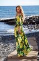 Kwiatowa sukienka hiszpanka z zwiewnego materiału Klara
