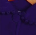 Ciemno chabrowy płaszczyk dla dziewczynki