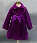 Śliwkowy płaszcz dla dziewczynki na jesień