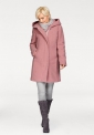 Różowy płaszcz baranek z kapturem Boysen's