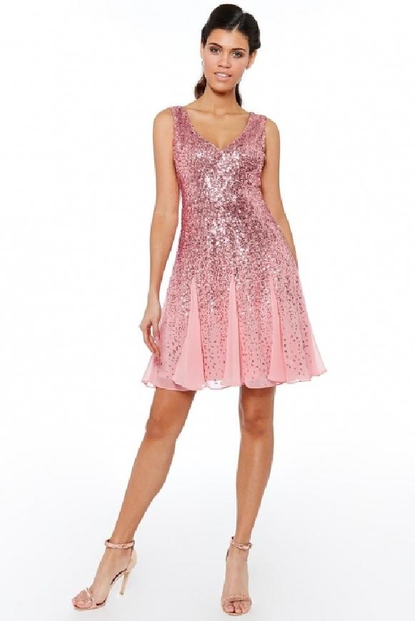 Krótka wieczorowa sukienka z cekinami, 963