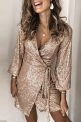 Cekinowa złota sukienka 132