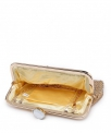 Złota torebka wieczorowa z kryształkiem na zapięciu