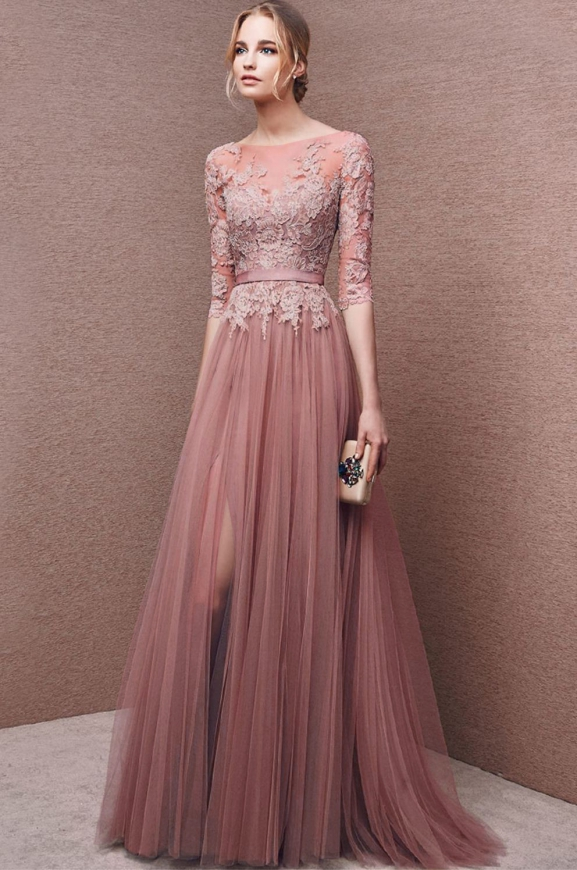 Sukienka wieczorowa LENA pustynny róż