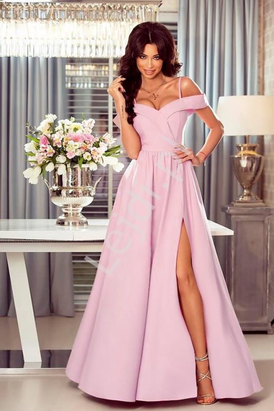 Suknia na wesele, dla druhen, świadkowych jasny róż